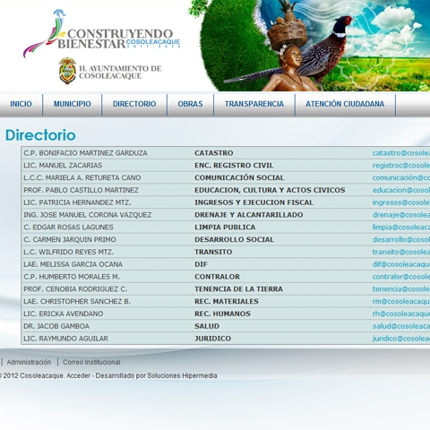 Portal municipal de Cosoleacaque