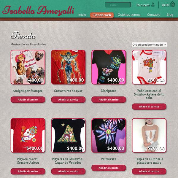 Productos Isabella Ameyalli