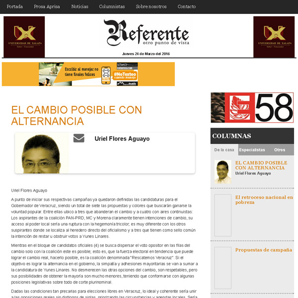 Artículo de opinión - Referente