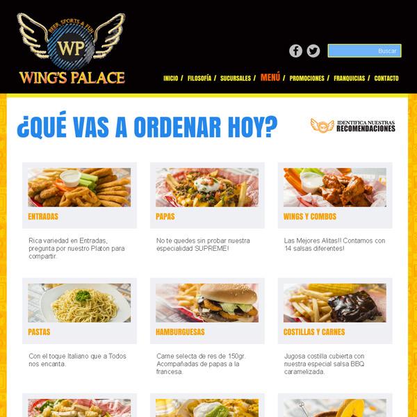 Menu Wings Palace